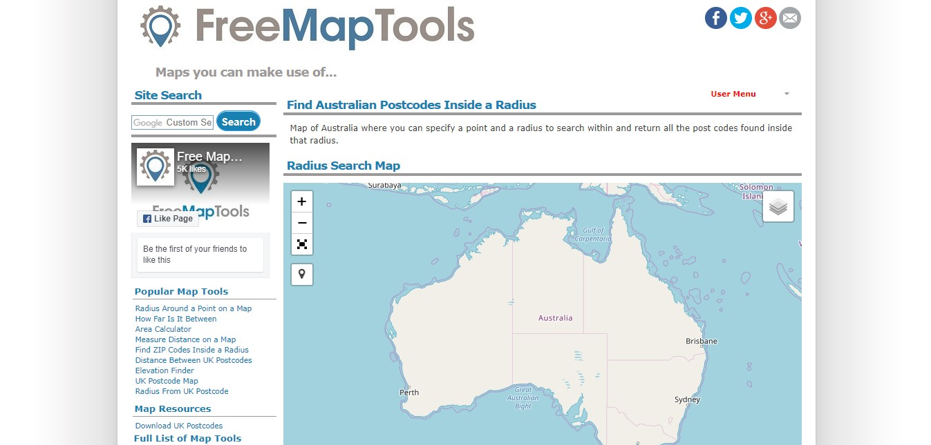 Free Map Tools