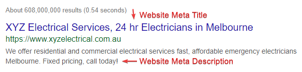 electrical services meta tag