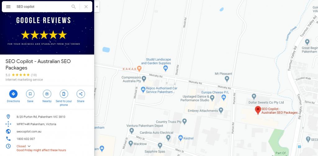 get on google maps profile listing