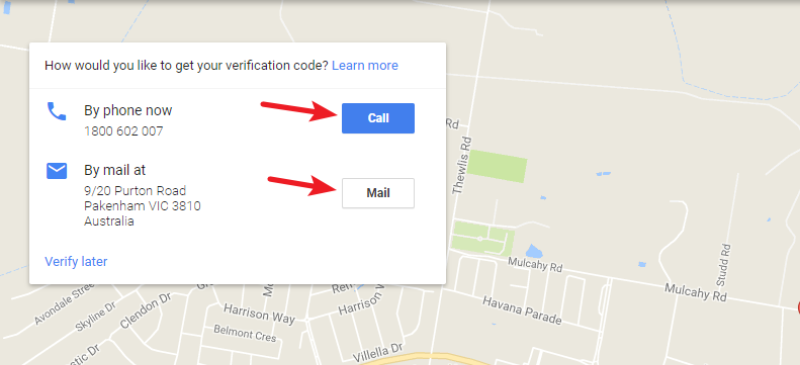 verification google my business listing