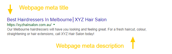 hairdressing meta tags