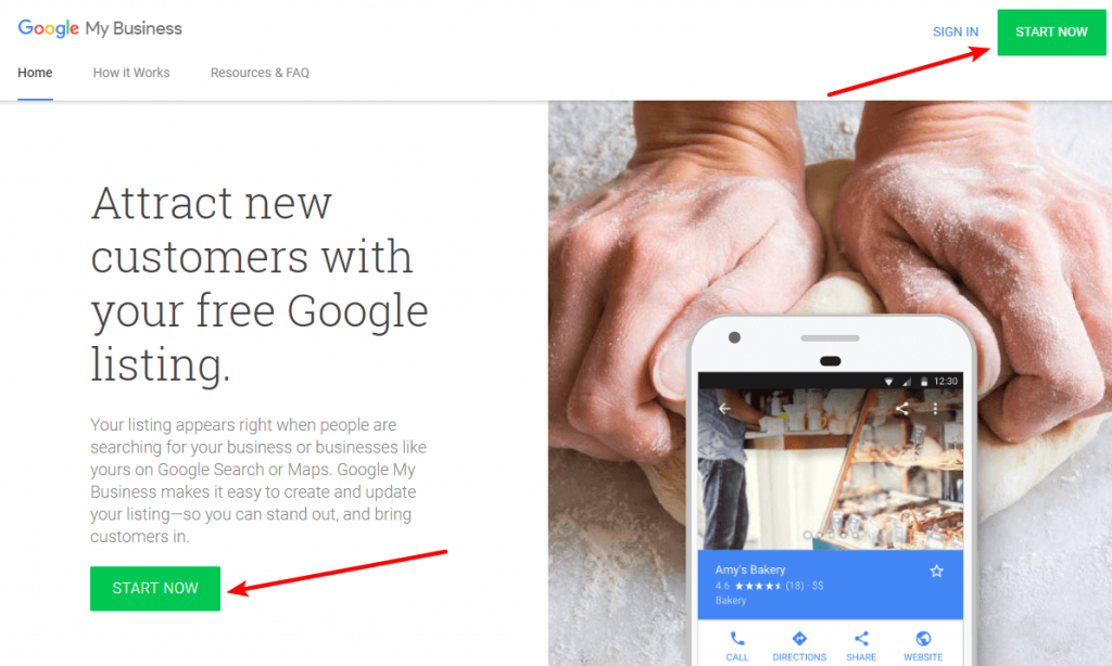 Sign up for Google My Business to create your listing
