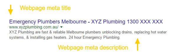 Plumbing SEO Meta Tags