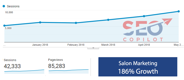 salon marketing seo package results