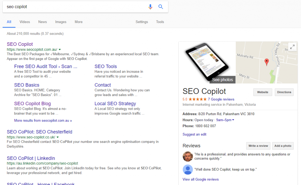 google business knowledge graph